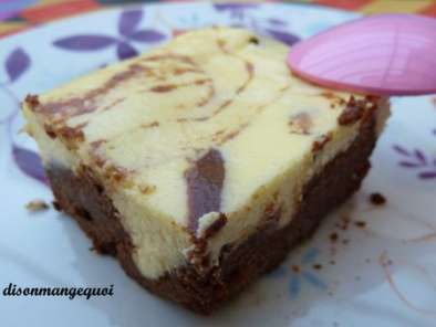 Recette Le brownies - cheese cake à tomber par terre....