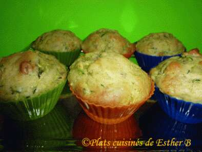 Recette Muffins aux zucchinis (courgettes) et ananas