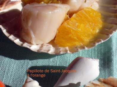 Recette Papillote de saint-jacques à l'orange
