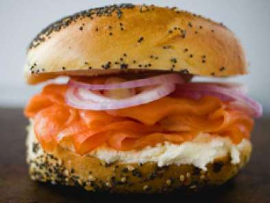 Recette Bagels cream cheese & lox