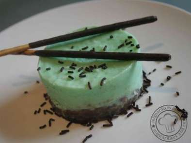 Recette Cheesecake menthe-chocolat facon after-eight