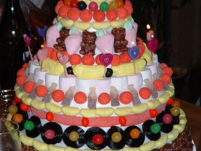 Gateau pyramide de bonbons - Idee paquet bonbon pour anniversaire ...