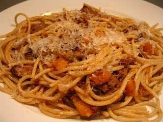 Spaghetti au boeuf bourguignon