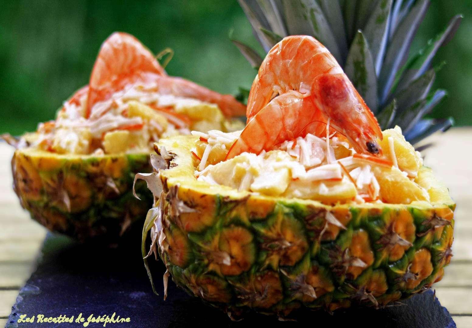 Ananas surprise aux crevettes recette ptitchef - Que faire pour un apero dinatoire ...