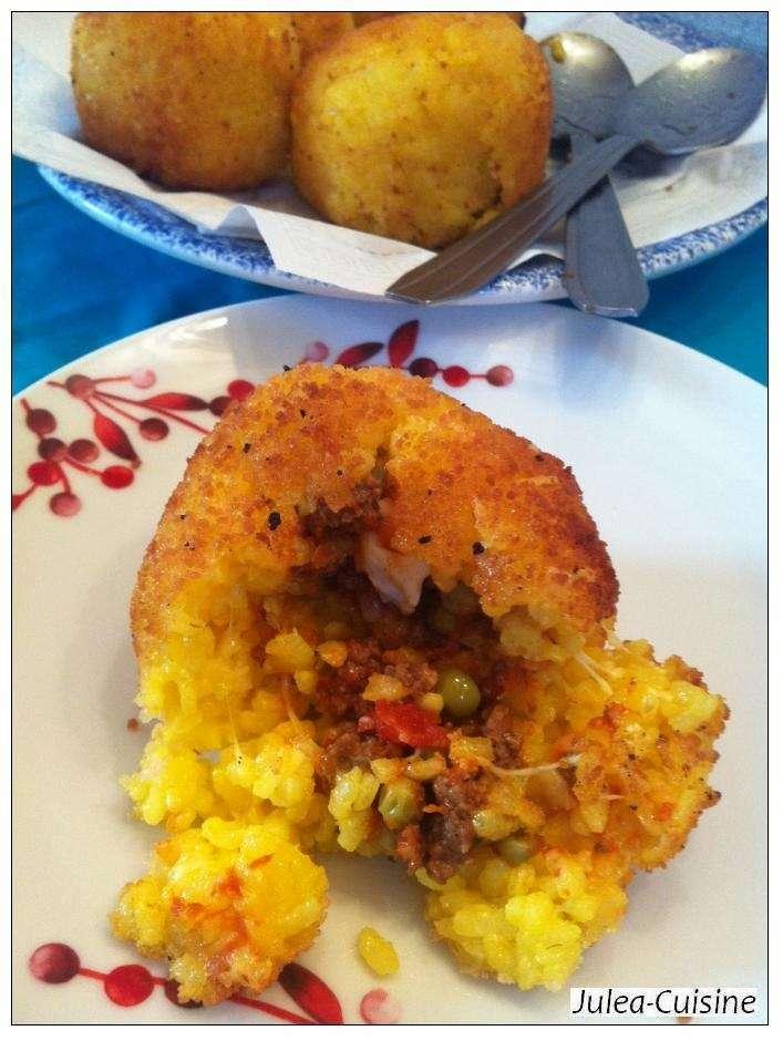 Arancini boulettes de riz farcies siciliennes recette ptitchef - Peut on donner du riz cuit aux oiseaux ...