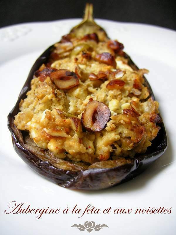 Aubergines fondantes la f ta et noisettes grill es recette ptitchef - Recette aubergine grillee ...