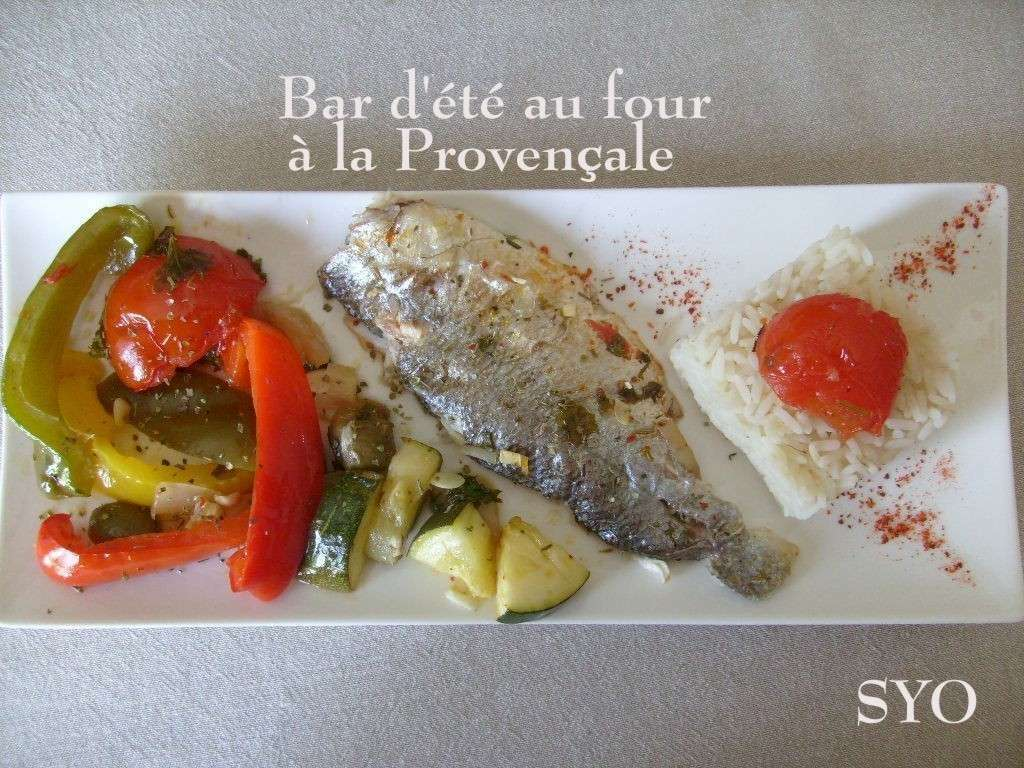 Bar d'été à la provençale, de mamigoz - Recette Ptitchef