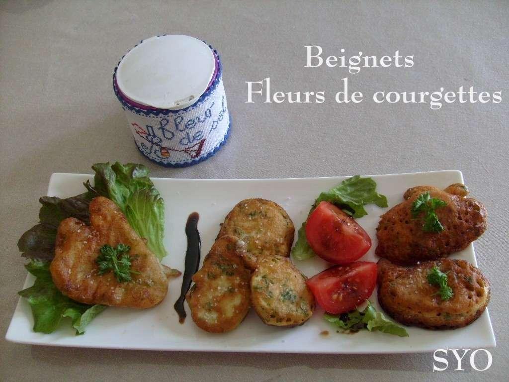 Beignets fleurs de courgettes et beignets tandoori recette ptitchef - Beignets de fleurs de courgettes ...