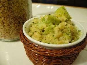 ble cremeux aux legumes verts et gingembre rice cooker recette ptitchef. Black Bedroom Furniture Sets. Home Design Ideas