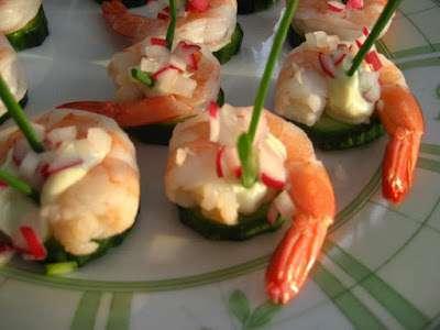 bouch es de crevettes au wasabi ou crevetttes pique atout. Black Bedroom Furniture Sets. Home Design Ideas