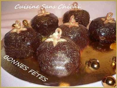 Dessert de noel dans une boule