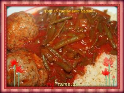 boulettes d 39 agneau aux haricots verts sauce tomate recette ptitchef. Black Bedroom Furniture Sets. Home Design Ideas