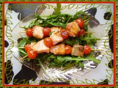 Brochette de Saumon-Tomate à la Roquette, Photo 2