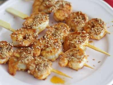 Brochettes De Crevettes Sauce Chinoise Recette Ptitchef