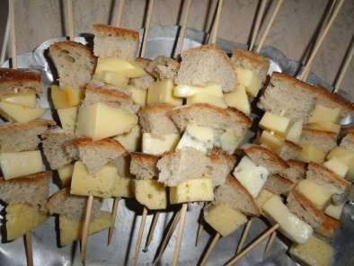 Brochettes Pain-Fromage, Photo 2