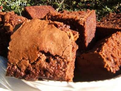 brownies sans beurre au chocolat et tonka recette ptitchef. Black Bedroom Furniture Sets. Home Design Ideas