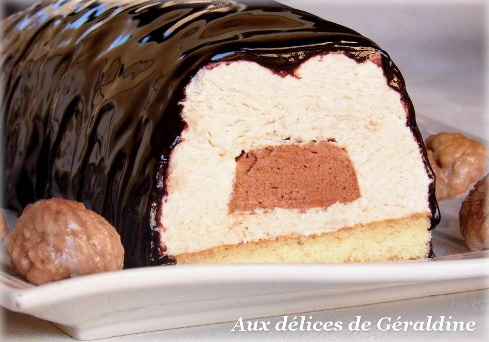 B che bavaroise cr me de marron coeur de mousse au chocolat recette ptitchef - Dessert a la creme de marron ...
