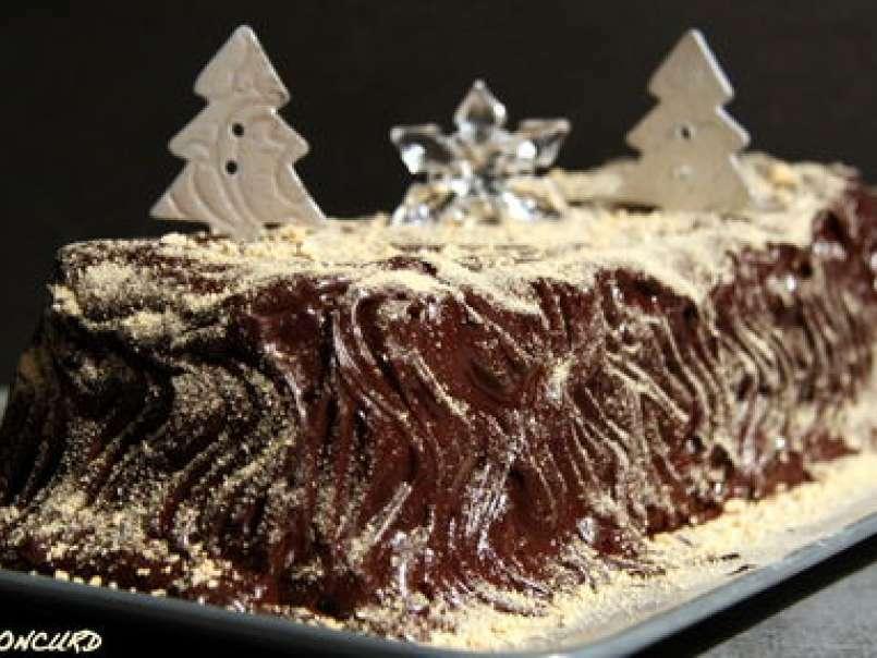 Buche de noel chocolat et creme de marron