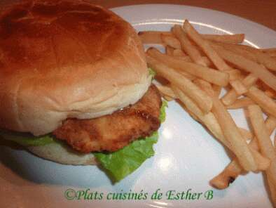 burgers de poulet frit style kentucky recette ptitchef. Black Bedroom Furniture Sets. Home Design Ideas