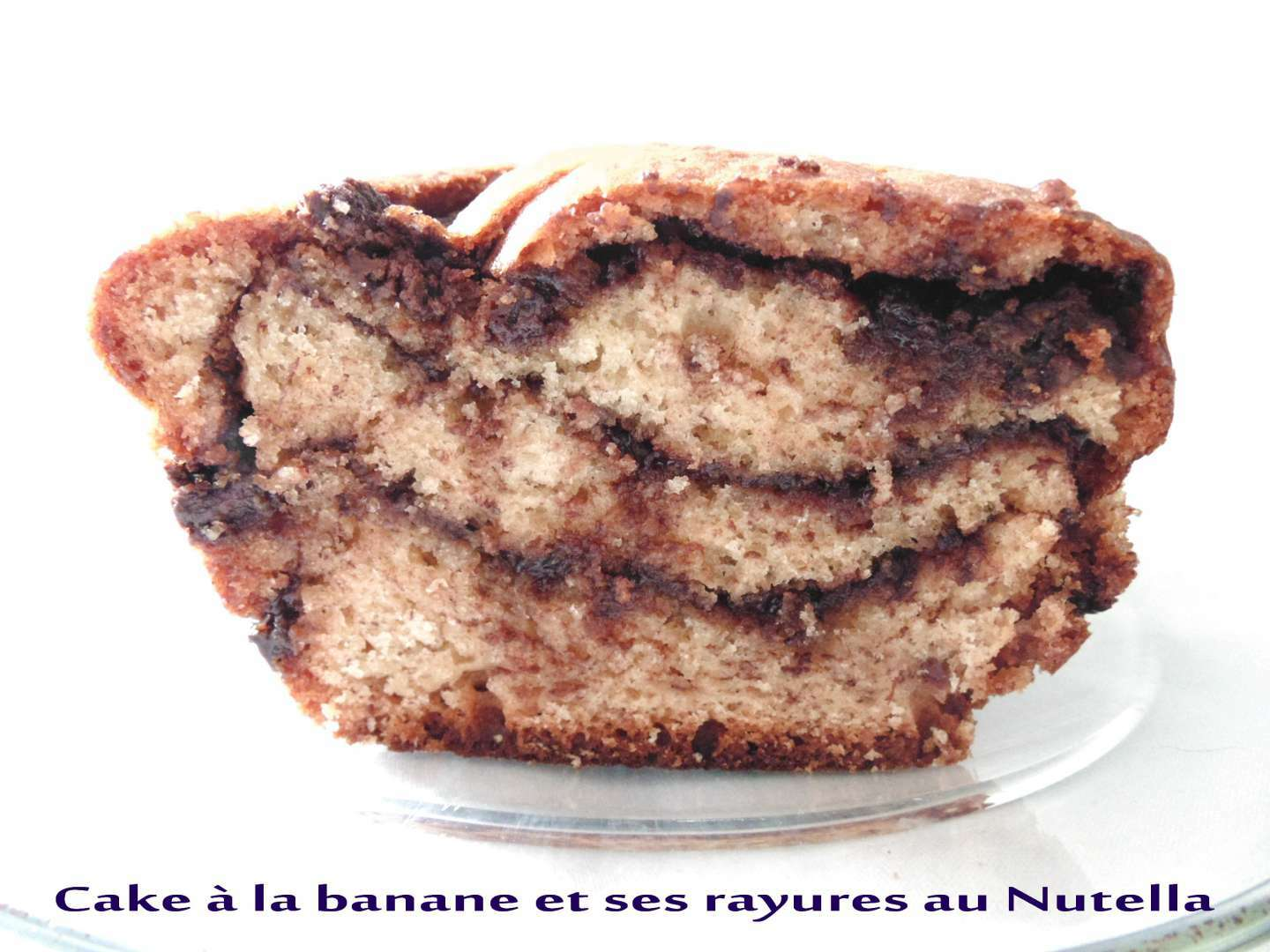cake la banane et ses rayures au nutella recette ptitchef. Black Bedroom Furniture Sets. Home Design Ideas
