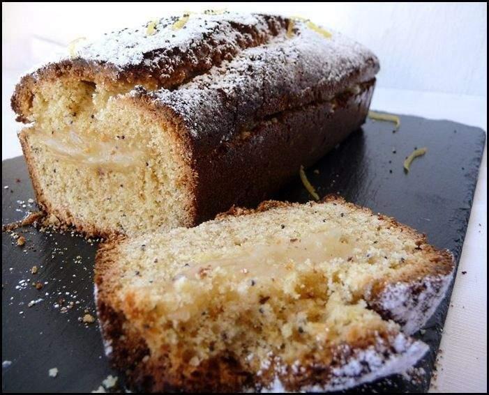 cake amandes citron pavot sans oeuf recette ptitchef