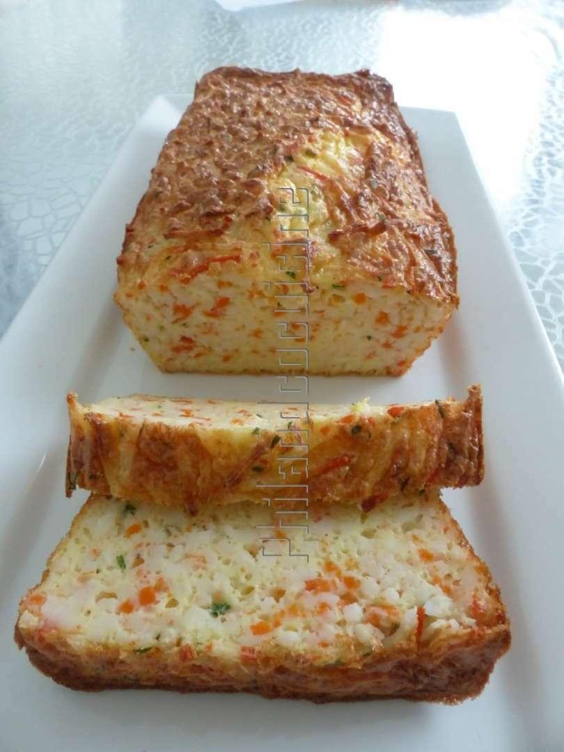 Cake extra moelleux et l ger aux miettes de surimi recette ptitchef - Plat facile et leger ...