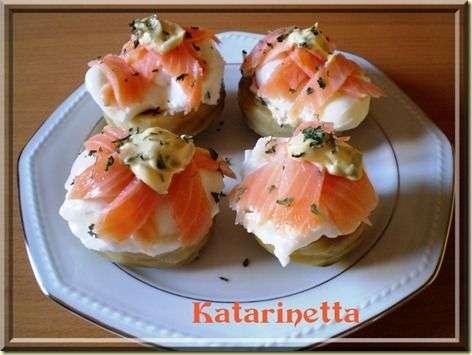 Canapes d 39 artichauts au saumon recette ptitchef for Canape saumon