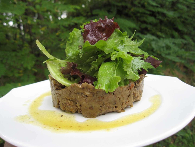 caviar d 39 aubergine et jeunes pousses de salade recette ptitchef. Black Bedroom Furniture Sets. Home Design Ideas