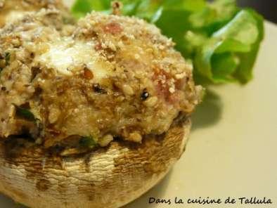 champignon farci au fromage a raclette