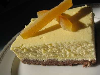 Cheese Cake Leger Fromage Blanc A L Orange Fond Chocolate