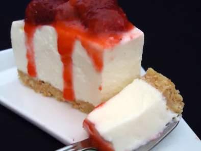 Cheesecake au chocolat blanc et aux fraises, Recette Ptitchef