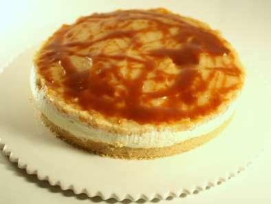 Cheesecake aux pommes & caramel au beurre salé