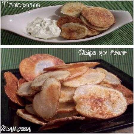 Chips maison cuites au four sans gluten et trempette au fromage boursin recette ptitchef - Chips fait maison au four ...
