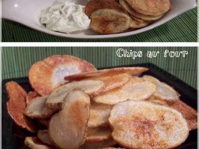 Chips maison cuites au four sans gluten et trempette au fromage boursin, Recette Ptitchef