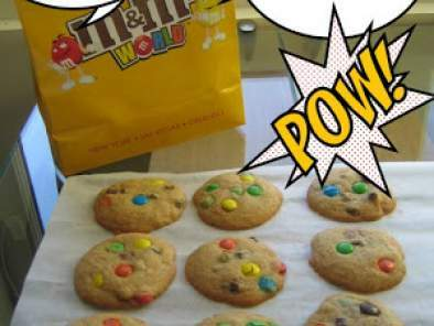 Chocolate chip and M&M's cookies version USA !!