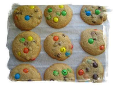 Chocolate chip and M&M's cookies version USA !!, Photo 2