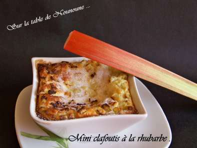 Clafoutis à la rhubarbe, photo 2