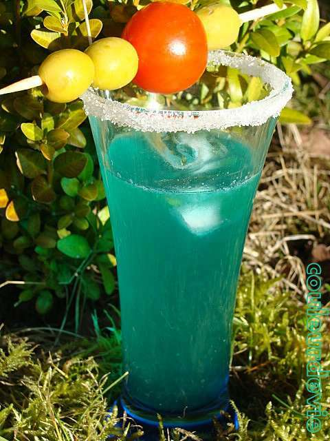 cocktail blue lagon au thermomix recette ptitchef. Black Bedroom Furniture Sets. Home Design Ideas