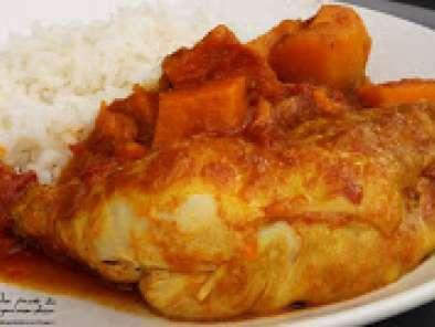 Colombo de poulet la patate douce recette ptitchef - Recette poulet patate douce ...