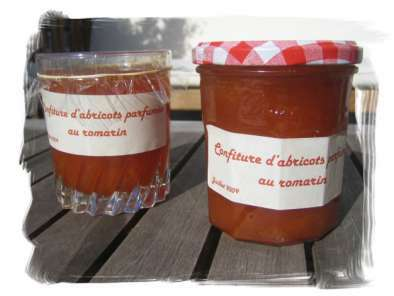 confiture abricot parfumee