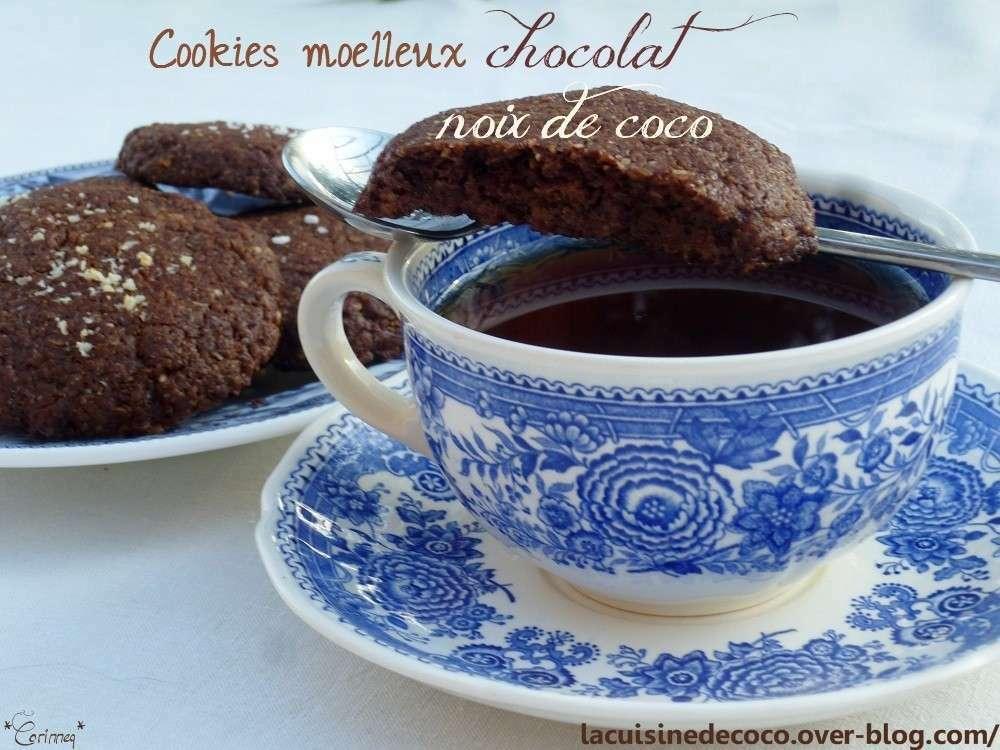 Cookies moelleux chocolat noix de coco recette ptitchef - Recette cookies chocolat moelleux ...