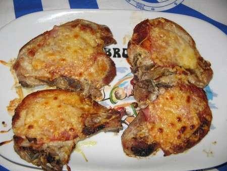 Cotes de porc gratin es light recette ptitchef - Cuisiner des cotes de porc ...