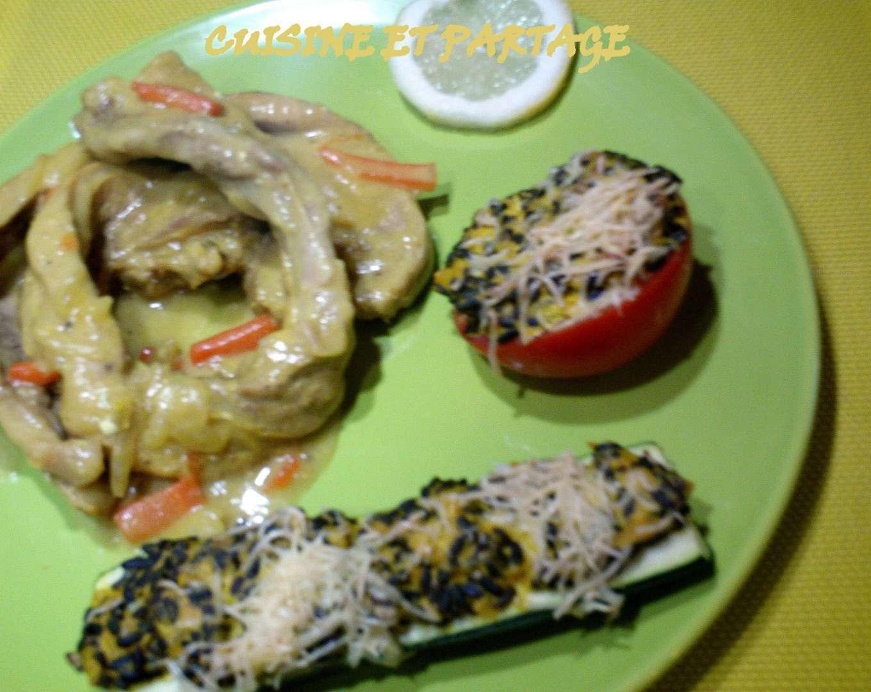Courgettes et tomates farcies au riz v n r recette ptitchef - Recette courgette farcie riz ...