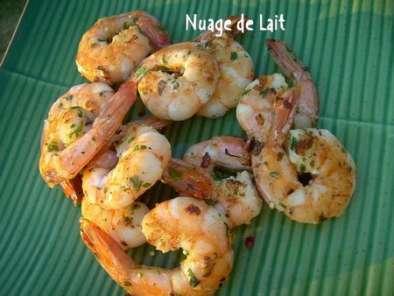 Crevettes l 39 ail pour plancha sur bbq recette ptitchef for Entree barbecue facile
