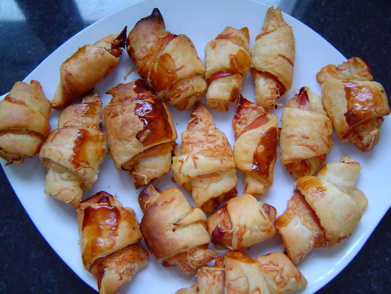 Populaire Croissants salés jambon fromage - Recette Ptitchef GH84