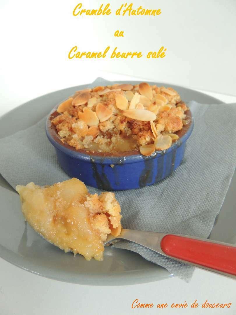 crumble pomme poire figue caramel beurre sal recette. Black Bedroom Furniture Sets. Home Design Ideas