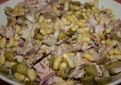 Cuisiner les restes 2 salade de gigot d 39 agneau aux flageolets recette ptitchef - Comment cuisiner des flageolets ...