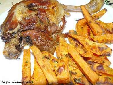 Cuisses de canard confites et frites de patates douces au - Cuisiner des cuisses de canard confites ...