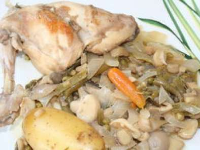 Cuisses de lapin au vin blanc recette ptitchef - Cuisse de poulet au vin blanc ...