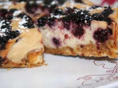 dessert d 39 t l ger et gourmand cheesecake aux m res. Black Bedroom Furniture Sets. Home Design Ideas